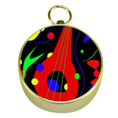 Abstract guitar  Gold Compasses