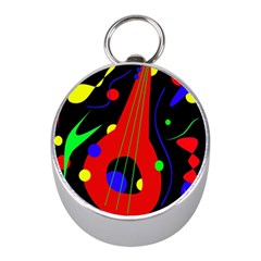 Abstract guitar  Mini Silver Compasses