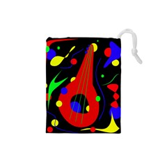 Abstract guitar  Drawstring Pouches (Small)