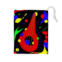 Abstract guitar  Drawstring Pouches (Large)