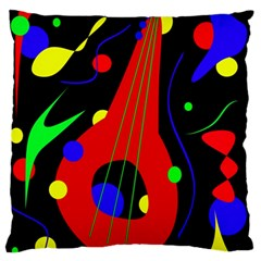 Abstract guitar  Large Flano Cushion Case (Two Sides)