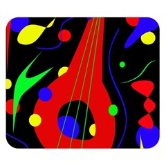 Abstract Guitar  Double Sided Flano Blanket (small)