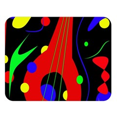 Abstract guitar  Double Sided Flano Blanket (Large)