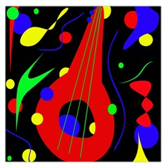 Abstract guitar  Large Satin Scarf (Square)