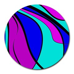 Purple and Blue Round Mousepads