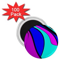 Purple and Blue 1.75  Magnets (100 pack)