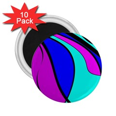 Purple and Blue 2.25  Magnets (10 pack)