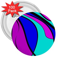 Purple and Blue 3  Buttons (100 pack)