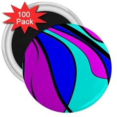 Purple and Blue 3  Magnets (100 pack)