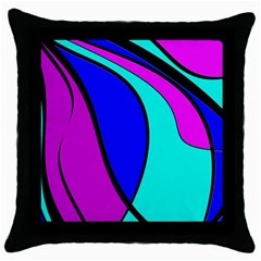 Purple and Blue Throw Pillow Case (Black)