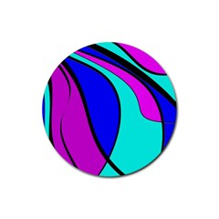 Purple and Blue Rubber Round Coaster (4 pack)