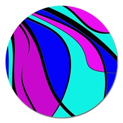 Purple and Blue Magnet 5  (Round)