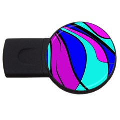 Purple and Blue USB Flash Drive Round (1 GB)