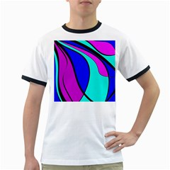 Purple and Blue Ringer T-Shirts