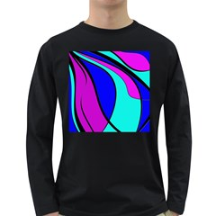 Purple and Blue Long Sleeve Dark T-Shirts