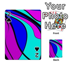Purple and Blue Playing Cards 54 Designs