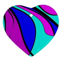 Purple and Blue Heart Ornament (2 Sides)
