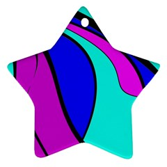 Purple and Blue Star Ornament (Two Sides)