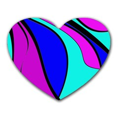 Purple and Blue Heart Mousepads