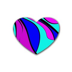 Purple and Blue Heart Coaster (4 pack)