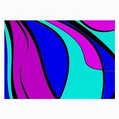 Purple and Blue Large Glasses Cloth (2-Side)