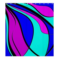 Purple and Blue Shower Curtain 66  x 72  (Large)