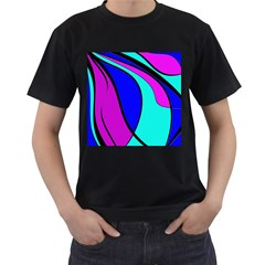 Purple and Blue Men s T-Shirt (Black)