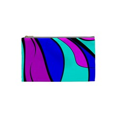 Purple and Blue Cosmetic Bag (Small)