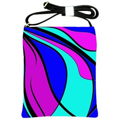 Purple and Blue Shoulder Sling Bags