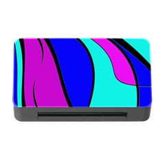 Purple and Blue Memory Card Reader with CF