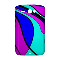 Purple and Blue HTC ChaCha / HTC Status Hardshell Case