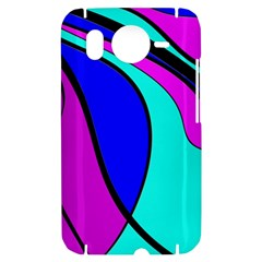 Purple and Blue HTC Desire HD Hardshell Case