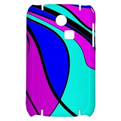 Purple and Blue Samsung S3350 Hardshell Case