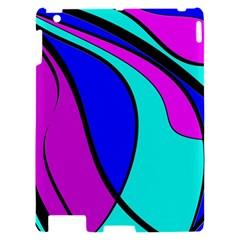 Purple and Blue Apple iPad 2 Hardshell Case
