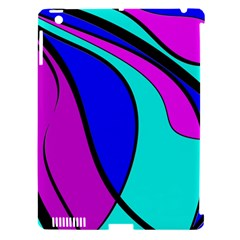 Purple and Blue Apple iPad 3/4 Hardshell Case (Compatible with Smart Cover)