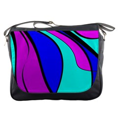 Purple and Blue Messenger Bags