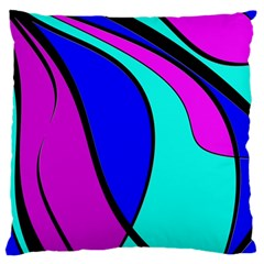 Purple and Blue Large Cushion Case (Two Sides)