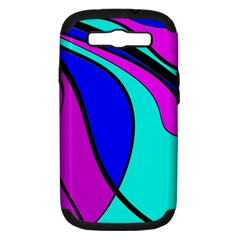 Purple and Blue Samsung Galaxy S III Hardshell Case (PC+Silicone)