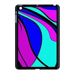 Purple and Blue Apple iPad Mini Case (Black)