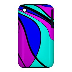 Purple and Blue Apple iPhone 3G/3GS Hardshell Case (PC+Silicone)