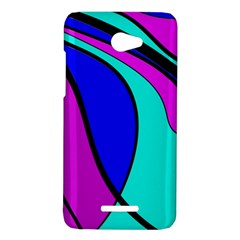 Purple and Blue HTC Butterfly X920E Hardshell Case