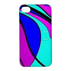 Purple and Blue Apple iPhone 4/4S Hardshell Case with Stand