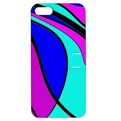 Purple and Blue Apple iPhone 5 Hardshell Case with Stand