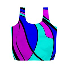 Purple and Blue Full Print Recycle Bags (M)