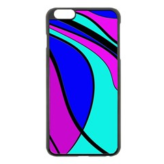 Purple and Blue Apple iPhone 6 Plus/6S Plus Black Enamel Case