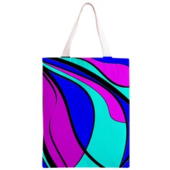 Purple and Blue Classic Light Tote Bag