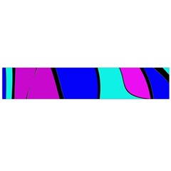 Purple and Blue Flano Scarf (Large)