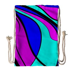 Purple and Blue Drawstring Bag (Large)