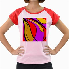 Colorful lines Women s Cap Sleeve T-Shirt