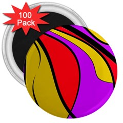 Colorful lines 3  Magnets (100 pack)